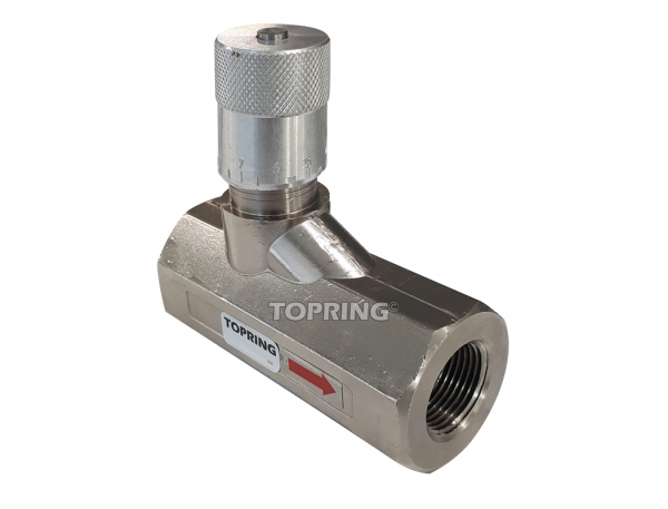 In-line flow control valves (with built-in check valve) 3/4 (f) npt