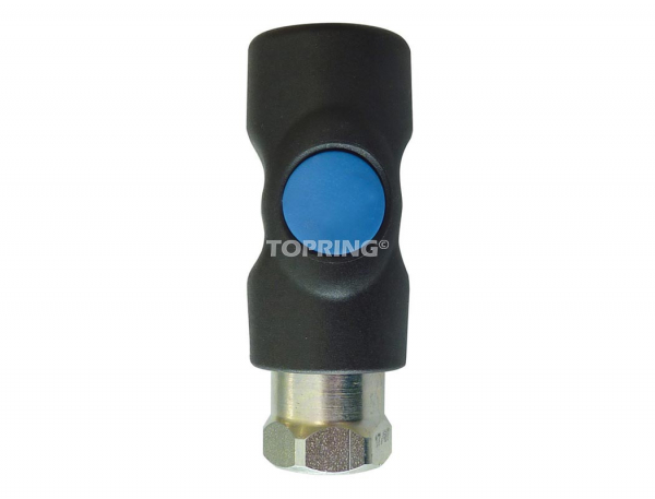 Coupler topquik s1 safety (1/4 industrial) 3/8 (f) npt (automatic)