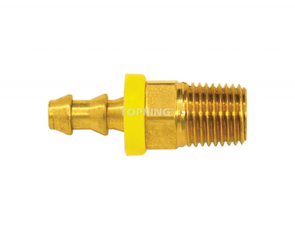 Fitting to hose barb lock-on 3/8 x 1/4 (m) npt