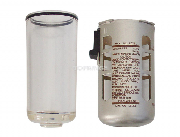 Poly. bowl with guard for 400 lubricator
