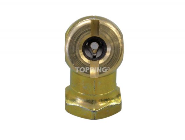 Air chuck hexagonal ball foot 1/4 (f) npt closed