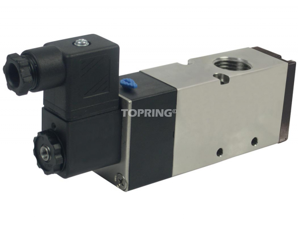 Valve single solenoid electric nc 24vdc 3/2 1/8 npt maxpro