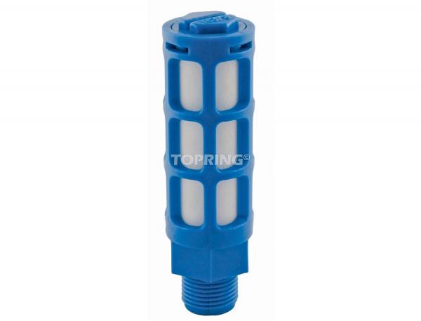 Muffler/filter 1/4 (m) bspt (pe)