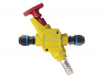 High flow safety lockout valve 16 mm pps