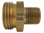 Male swivel fitting for water hose 3/4 (m) ght x 3/8 (m) npt
