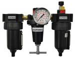 Filter + regulator + lubricator 1/4 manual zinc hiflo2