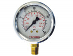"Liquid gauge 2-1/2"" – 1/4 npt lm 0-200 stainless steel/brass"