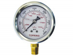 "Liquid gauge 2-1/2"" – 1/4 npt lm 0-3000 stainless steel/brass"