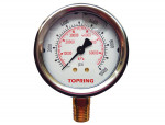 "Liquid gauge 2-1/2"" – 1/4 npt lm 0-10000 stainless steel/brass"