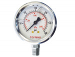 "Liquid gauge 2-1/2"" – 1/4 npt lm 0-300 stainless steel"