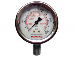 "Liquid gauge 4"" – 1/4 npt lm 0-10 000 stainless steel"