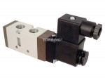 Valve single solenoid 110vac 5/2 1/4 npt optima