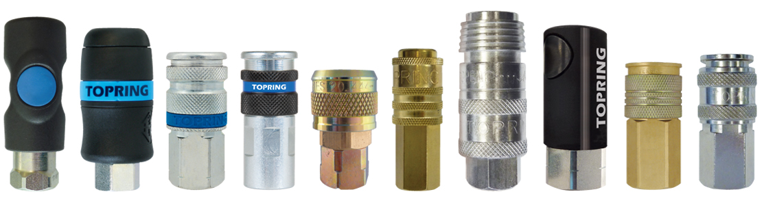 Many types of quick couplers